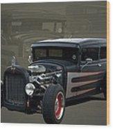 1931 Ford Sedan Hot Rod Wood Print