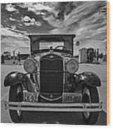 1931 Model T Ford Monochrome Wood Print