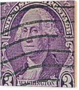 1932 George Washington Stamp Wood Print