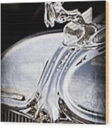 1933 Chrysler Imperial Hood Ornament - Emblem Wood Print