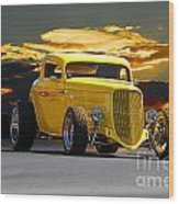 1933 Ford Hiboy Coupe Wood Print