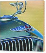 1933 Pontiac Hood Ornament - Emblem Wood Print