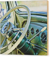 1933 Pontiac Steering Wheel -0463c Wood Print