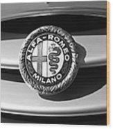 1934 Alfa Romeo 8c Zagato Emblem Wood Print