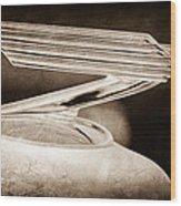 1934 Chevrolet Hood Ornament Wood Print
