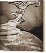 1934 Packard Coupe Hood Ornament Wood Print