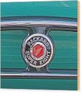 1934 Packard Super 8 Emblem Wood Print