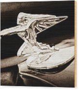 1935 Packard Hood Ornament - Goddess Of Speed Wood Print