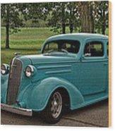 1936 Chevrolet Sedan Hot Rod Wood Print