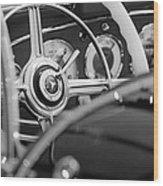 1936 Mercedes-benz 540 Special Roadster Steering Wheel Wood Print
