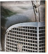 1937 Cadillac Hood Ornament And Grille Emblem Wood Print