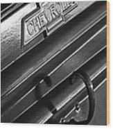 1937 Chevrolet Custom Pickup Emblem Wood Print by Jill Reger