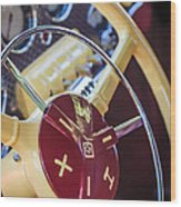 1937 Cord 812 Phaeton Steering Wheel Wood Print