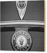 1937 Packard 1508 Twelve Convertible Sedan Emblems Wood Print