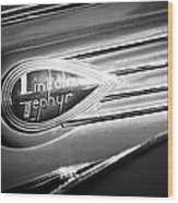 1938 Lincoln Zephyr Emblem Wood Print