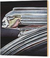 1939 Pontiac Silver Streak Chief Hood Ornament Wood Print