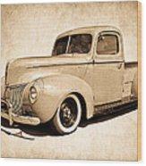 1940 Ford Pickup Wood Print