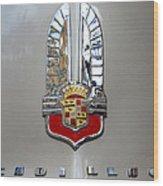 1941 Cadillac Emblem Wood Print