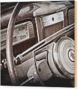 1941 Packard Steering Wheel Emblem Wood Print