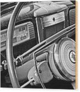1941 Packard Steering Wheel Wood Print