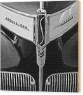 1941 Studebaker Champion Hood Emblem Wood Print
