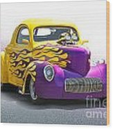 1941 Willys 'pro Street' Coupe Wood Print