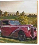 1947 Delahaye 135m Pennock Cabriolet Wood Print