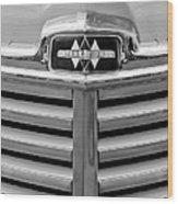1948 International Hood Emblem Wood Print