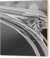 1948 Pontiac Streamliner Woodie Station Wagon Hood Ornament Wood Print