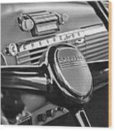 1950 Chevrolet 3100 Pickup Truck Steering Wheel Wood Print