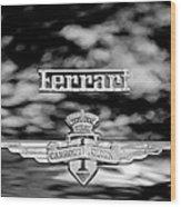 1950 Ferrari Emblem Wood Print