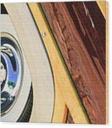 1950 Ford Custom Deluxe Woodie Station Wagon Wheel Wood Print by Jill Reger