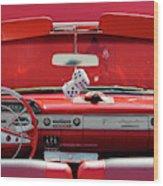 1950s Chevrolet Impala Detail Wood Print