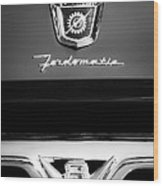 1950's Ford F-100 Pickup Truck Grille Emblems Wood Print