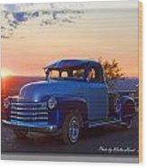 1951 Chevy Pick Up Wood Print
