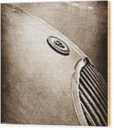 1951 Jaguar Grille Emblem Wood Print