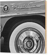 1951 Mercury Montclair Convertible Wheel Emblem Wood Print