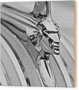 1951 Pontiac Streamliner Hood Ornament Wood Print by Jill Reger