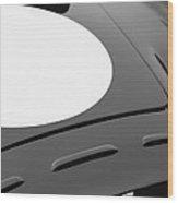 1952 Aston Martin Db3 Sports Hood Emblem Wood Print