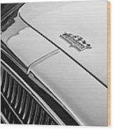 1952 Cunningham C-3 Coupe Hood Emblem Wood Print