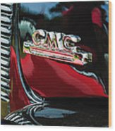1952 Gmc Suburban Emblem Wood Print