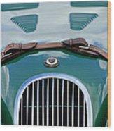1952 Jaguar Xk 120 John May Speciale Grille Emblem Wood Print