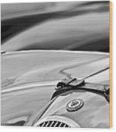 1952 Jaguar Xk 120 John May Speciale Hood Emblem Wood Print
