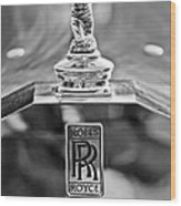 1952 Rolls-royce Hood Ornament Wood Print