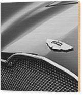 1953 Aston Martin Db2-4 Bertone Roadster Hood Emblem Wood Print by Jill Reger