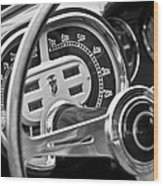 1953 Fiat 8v Ghia Supersonic Steering Wheel Wood Print