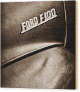 1953 Ford F-100 Pickup Truck Emblem Wood Print