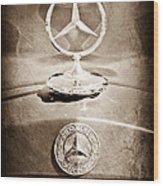 1953 Mercedes Benz Hood Ornament Wood Print
