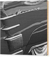 1953 Mercury Monterey Wheel Emblem Wood Print