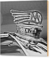 1953 Morgan Plus 4 Le Mans Tt Special Hood Ornament Wood Print